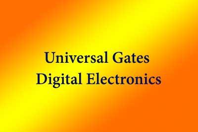 Universal Gates