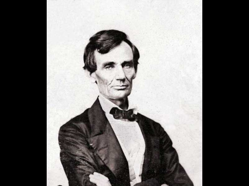 The last beardless photo of Lincoln on 13 August 1860