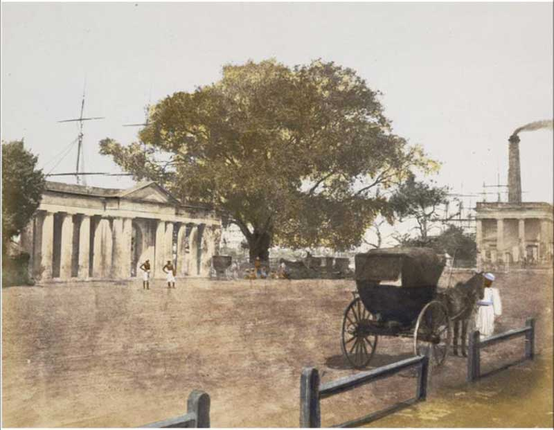 Babu Ghat with the Steam Engine