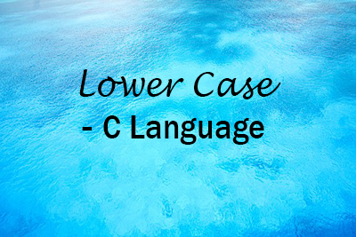 Accept String Lower Case