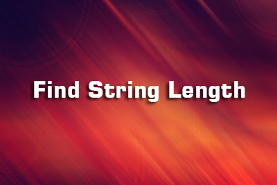 string length c language