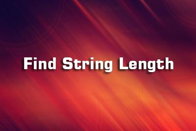 string length c language