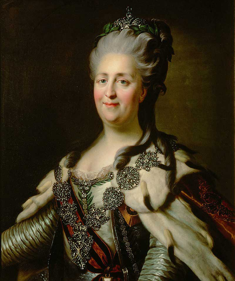Catherine the Great in her 50s, by Johann Baptist von Lamp