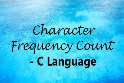 frequency character C Language