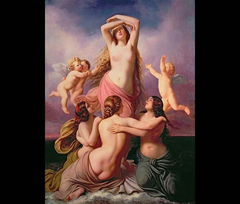 Eduard Steinbruck (Germany 1802-1882) – Venus with the three Graces