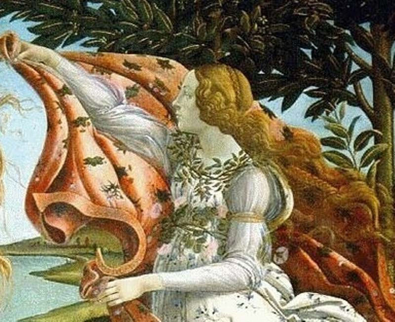 Sandro Botticelli – Details of the winged deities