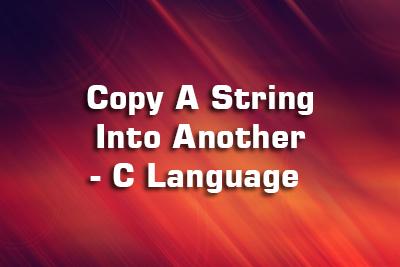 copy string