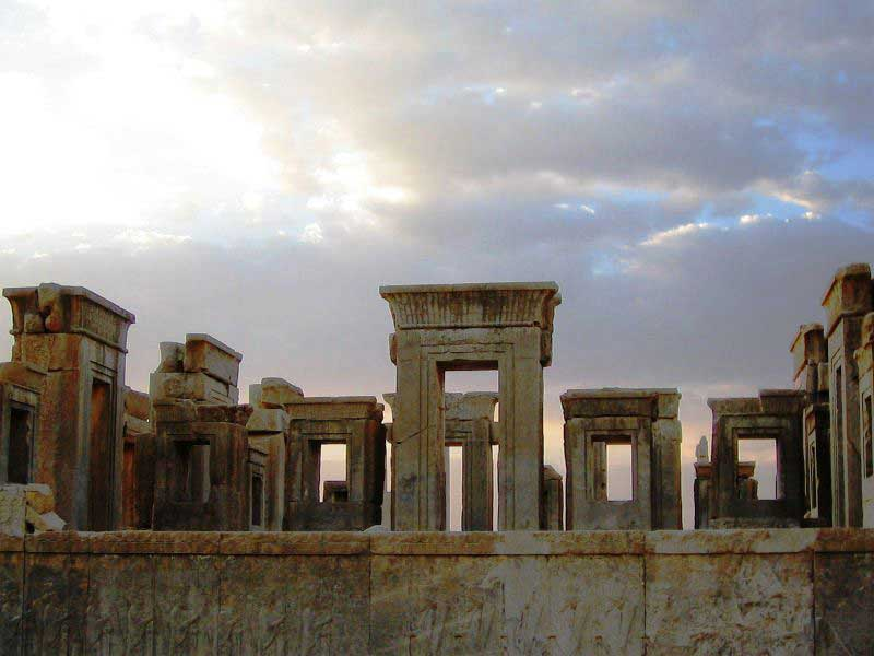 The ruins of the palace of Darius
