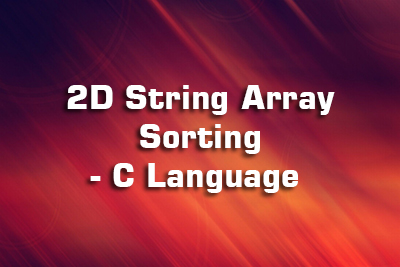 2D String Array Sort