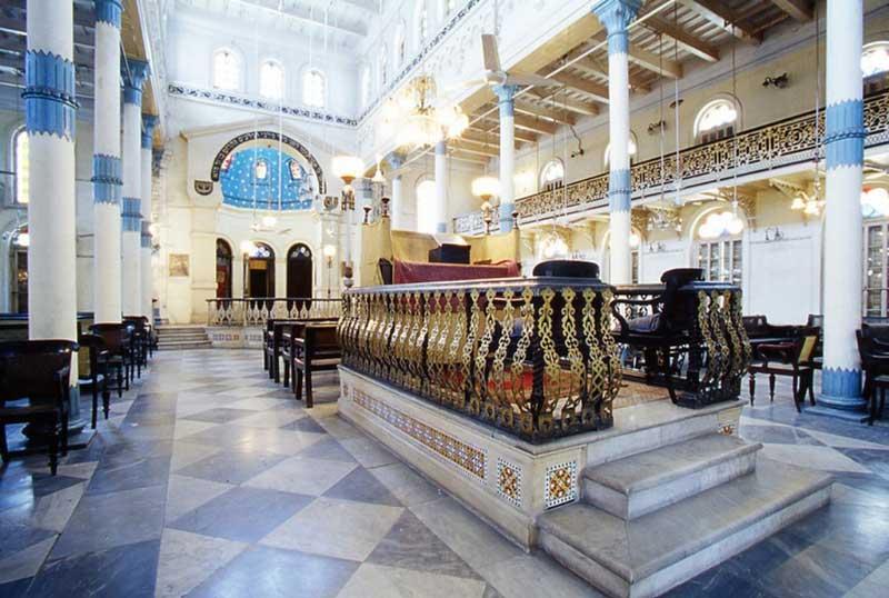 The marble podium, Beth El Synagogue