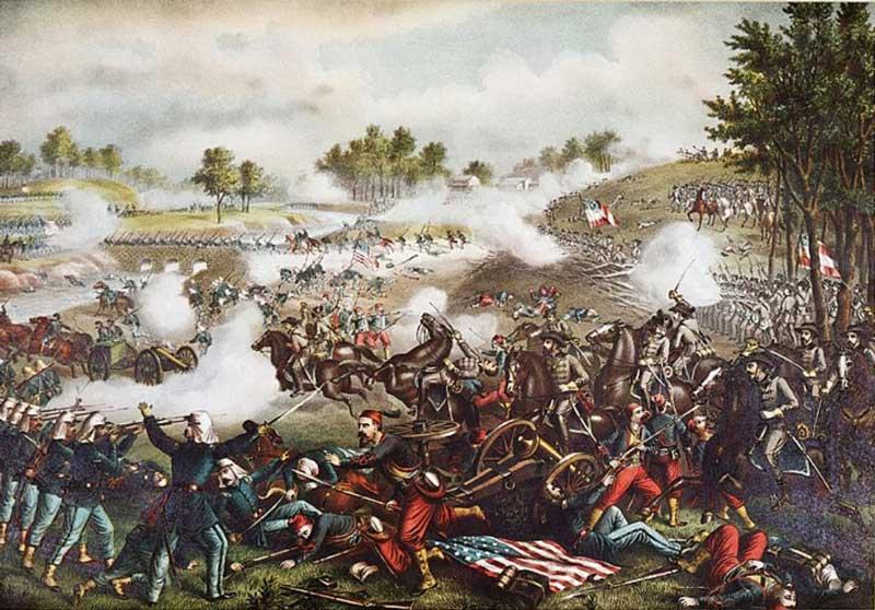 First Battle of Bull Run, by Kurz & Allison