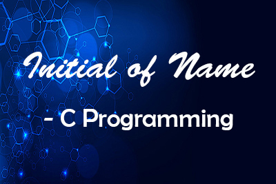 Initial name String C Language