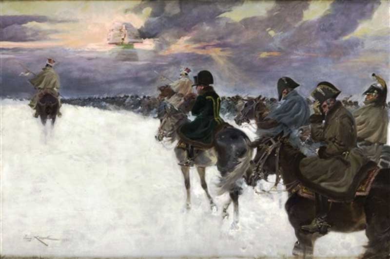 Retreat from Moscow, by Jerzy Kossak