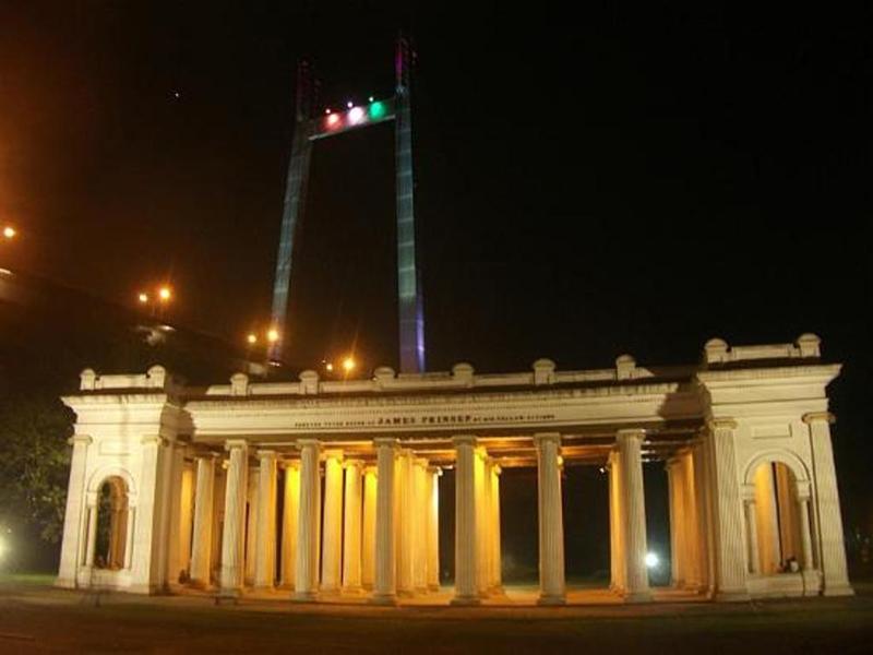 Prinsep Ghat by night