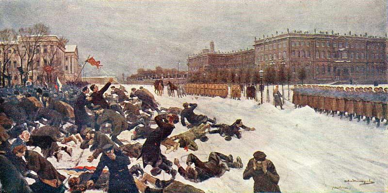 Bloody Sunday massacre - by Ivan Vladimirov