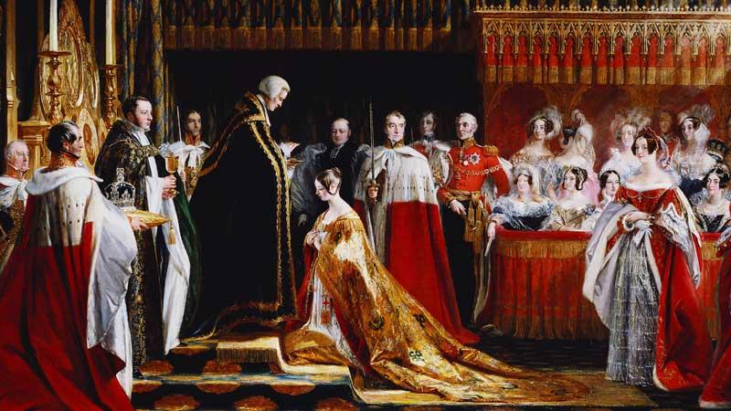Coronation of Queen Victoria, by Charles Robert Leslie