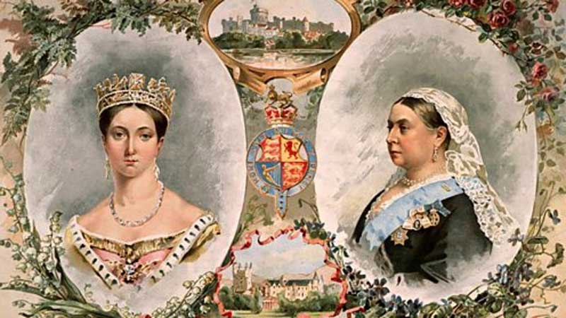 Queen Victoria as appeared in 1837 and 1887