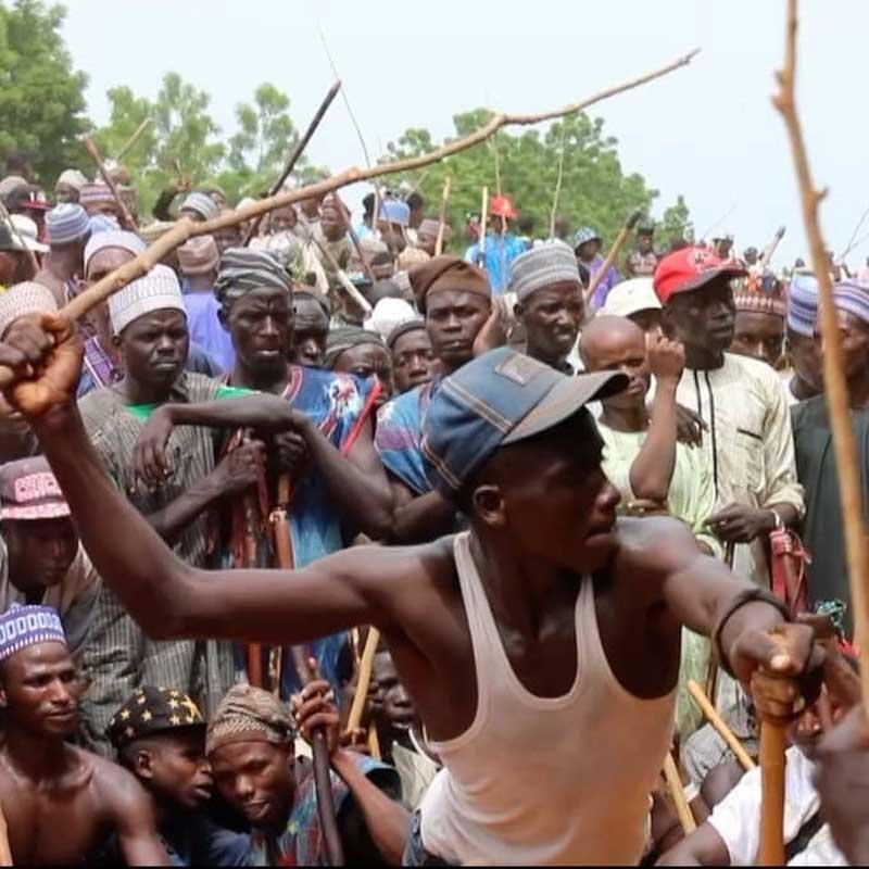 Fulani Whip Match West Africa