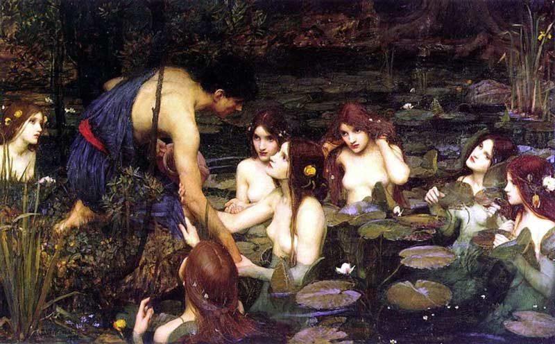 Hylas and the Nymphs, by John William Waterhouse 1896