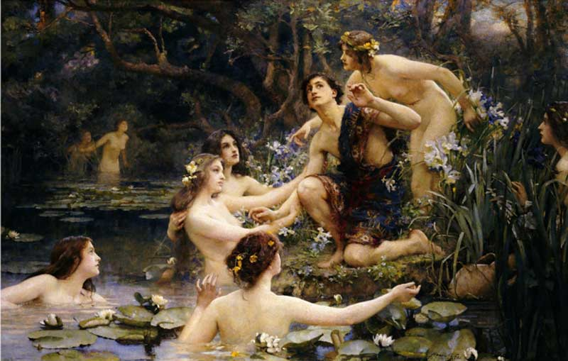 Hylas and the Water Nymphs, by Henrietta R Rae