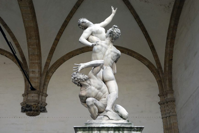 The Rape Sabine Woman Sculptures