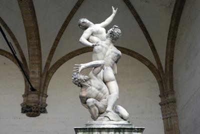 The Rape Sabine Woman Sculptures