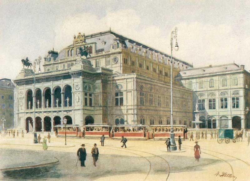 Vienna State Opera House, by Adolf Hitler 1912