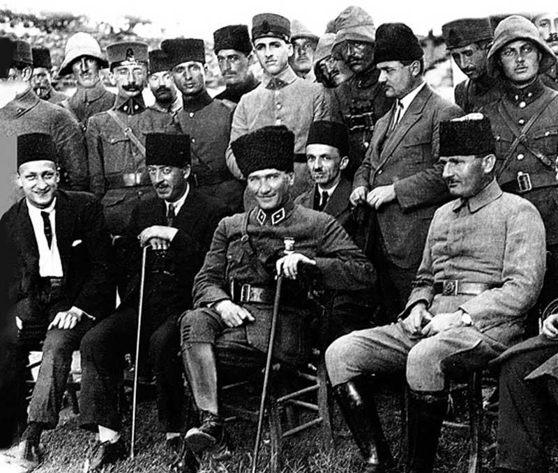 Smiling Mustafa Kemal Pasha in 1922