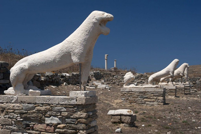 Lions of Delos Greece