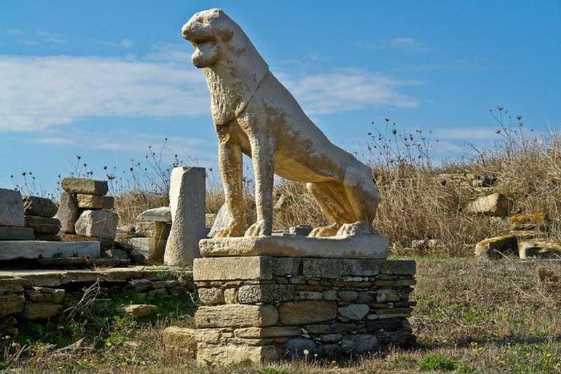 Lions of Delos Greece