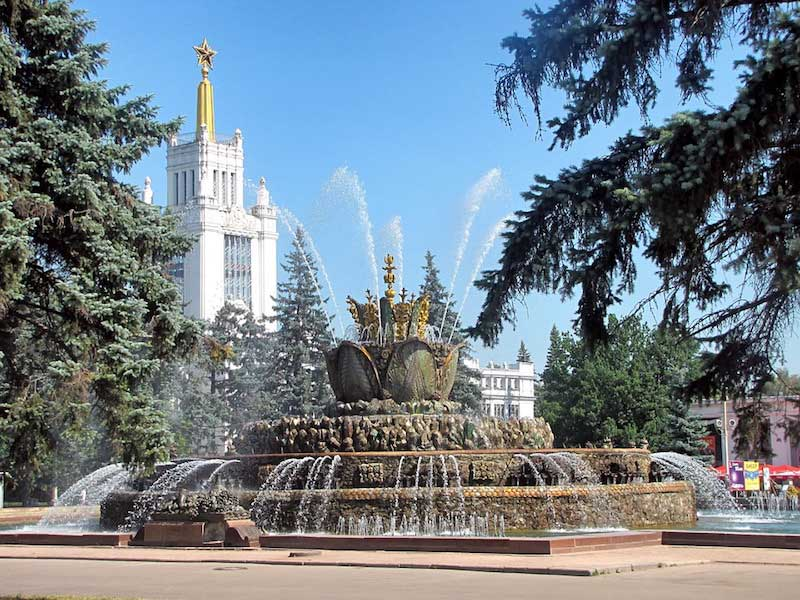 the stone flower fountain Moscow