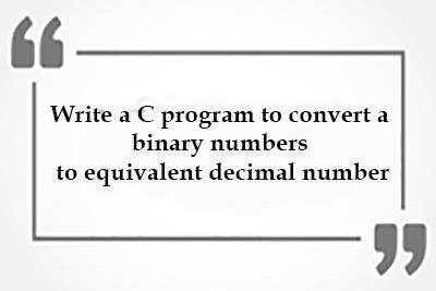 convert binary decimal WBUT MCA