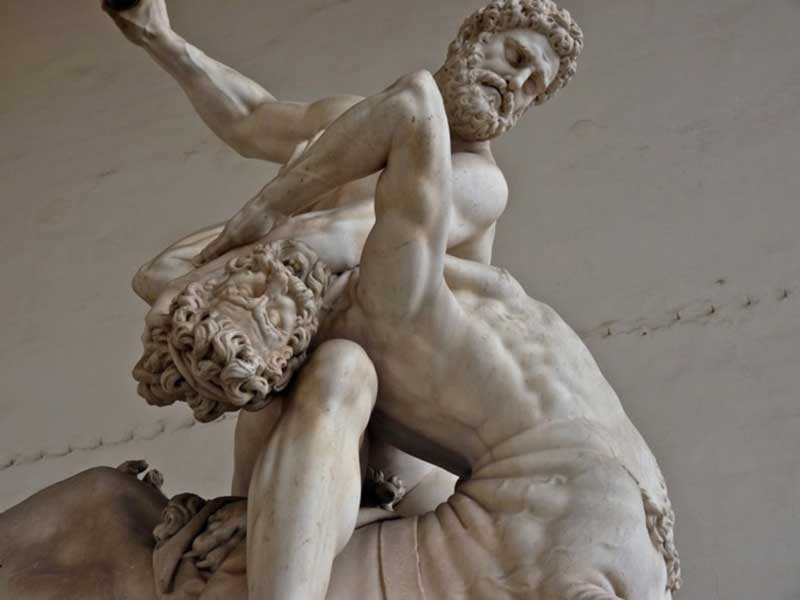 Heracles And The Centaur Nessus Scintillating Sculptures