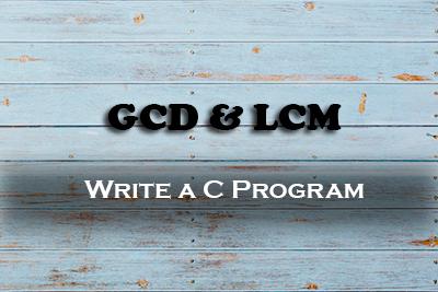 GCD LCM WBUT MCA