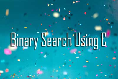 binary searching C WBUT MCA 2011