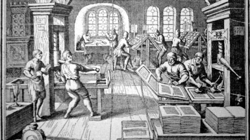 Old printing-press