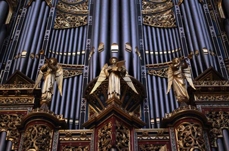 Organ pipes at Westminster Abbey