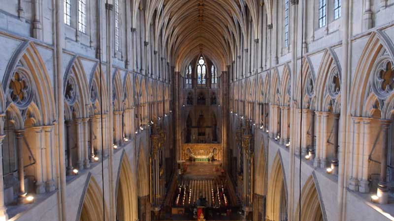 The exquisite interior of Westminster Abbey