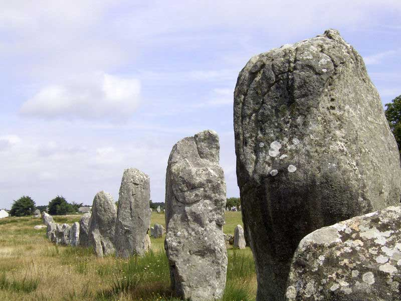 The Ménec alignments, the most well-known megalithic site
