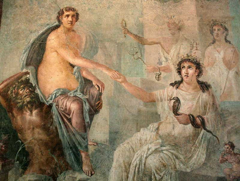 Fresco from the Temple of Isis, Pompeii