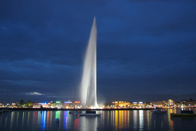 Jet d Eau Geneva Switzerland Fountains