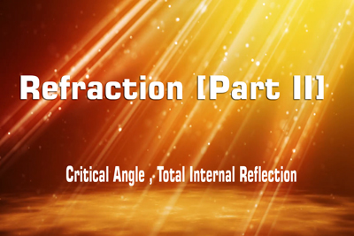 Refraction Critical Angle Total Internal Reflection