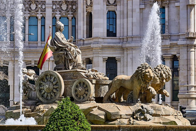 Cibeles Fountain Madrid Spain Fountains