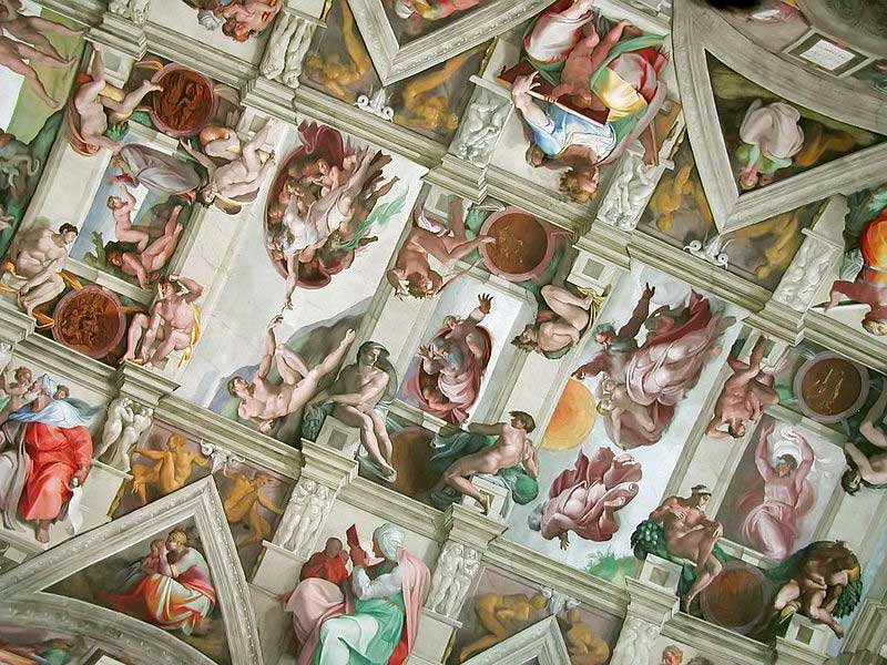 a section of the sistine chapel ceiling