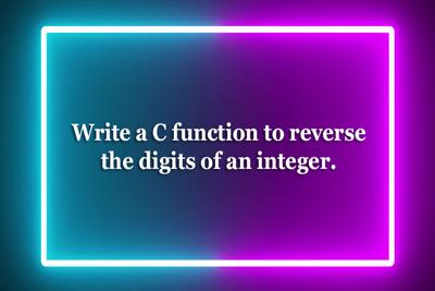 Reverse digits integer WBUT MAKAUT MCA