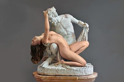 Satyr Bacchante Sculpture