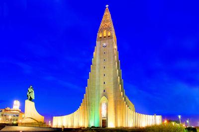 Church Hallgrimur Reykjavik Iceland