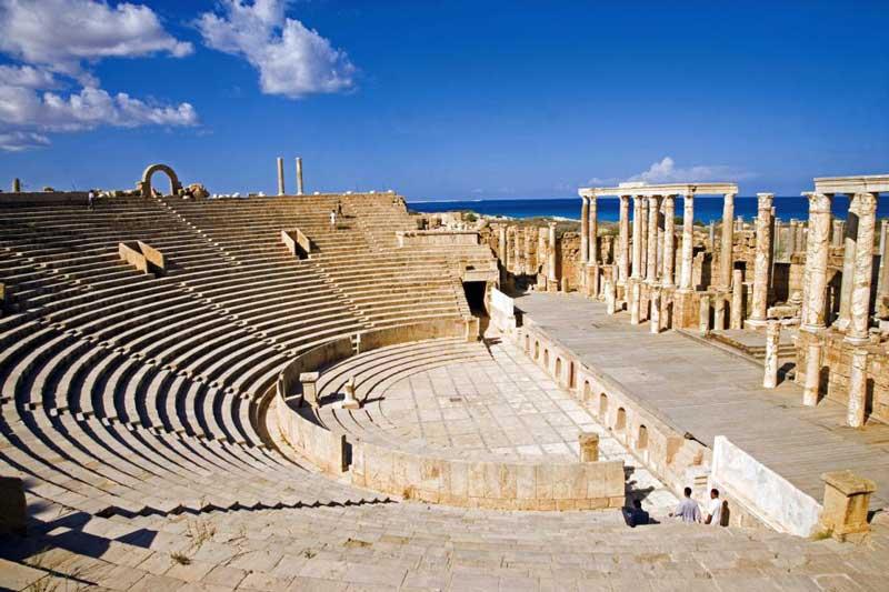 The Roman Theatre, Leptis Magna