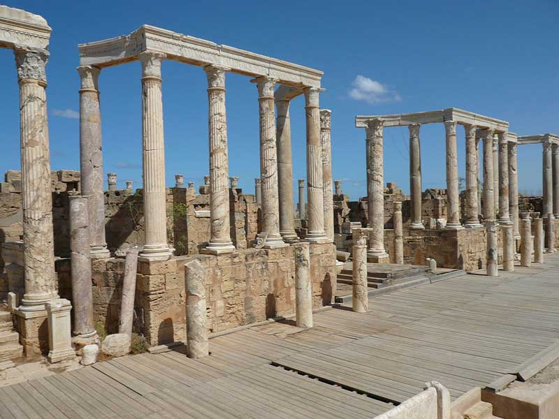 A part of the archaeological site of Leptis Magna