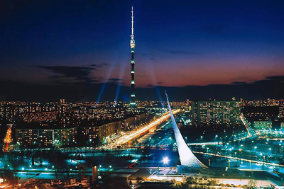 Ostankino Tower Moscow Russia  Columns towers